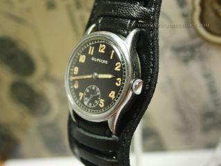 GLYCINE German military mens wrist watch from WW2. Caliber AS1130