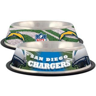 San Diego Chargers Stainless Steel Pet Bowl   Team Shop   Dog