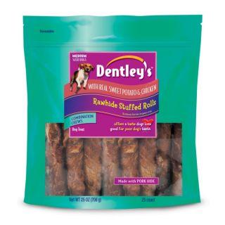 Dentley's Rawhide Stuffed Rolls Chicken & Sweet Potato   Sale   Dog