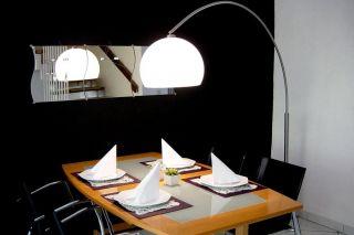 Design Leuchte Stehleuchte Bogenlampe BIG BOW Weiss NEU