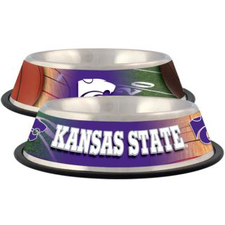 Kansas State Wildcats Stainless Steel Pet Bowl   Team Shop   Dog