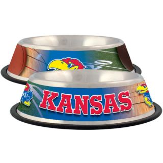 Kansas Jayhawks Stainless Steel Pet Bowl   Team Shop   Dog