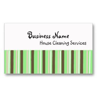 House Cleaning Services Business Card Templates