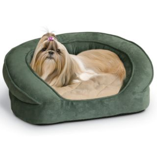 K&H Pet Products Deluxe Ortho Bolster Sleeper   Green