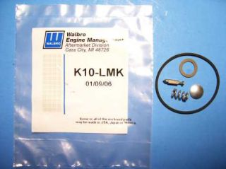 GENUINE WALBRO LMK CARBURETOR REPAIR KIT K10 LMK