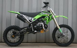 CENKOO XB 33 125cc 17/14 Enduro Cross Dirt Bike Grün