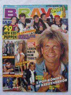 BRAVO 49 1990 Johnny Depp Dieter Bohlen NKOTB Andre Agassi
