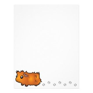 Cartoon Guinea Pig (red) letterhead by SugarVsSpice