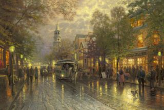 Evening on the Avenue (Charleston, Broad Street) Limited Edition