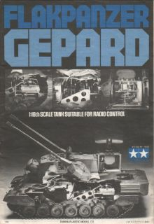 Vintage Tamiya Flakpanzer Gepard 1/16 RC Tank Instruction Manual 56003