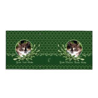 Green Eyed Calico Kitten 2 Inch Binder