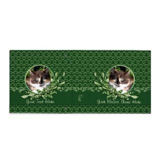 Green Eyed Calico Kitten 2 Inch Binder