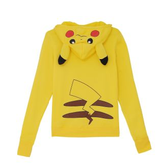 JP Anime Pokemon Pikachu Hoodie Hooded Zipper Hoodies Sweater Jacket