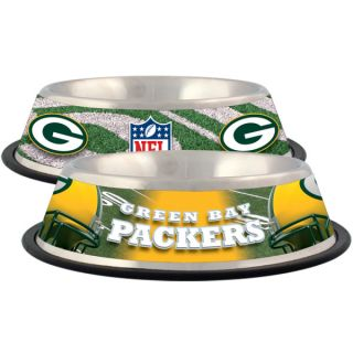 Green Bay Packers Stainless Steel Pet Bowl   Team Shop   Dog