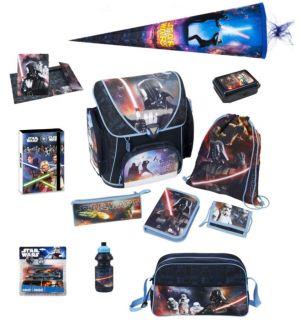 Star Wars Schulranzen Set 17tlg. Sporttasche Schultüte Federmappe