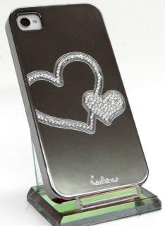 Designer iPhone 4 S LUXUS TITAN STRASS BLING spiegel chrom Cover hard