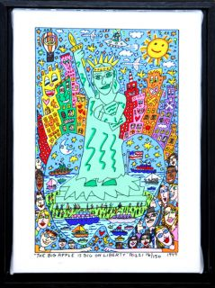 James Rizzi The Big Apple Is Big On Liberty Farblitho Lwd handsigniert