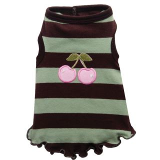 Hip Doggie Cherry Mocha Mint Tank Top for Dogs   Clothing & Accessories   Dog