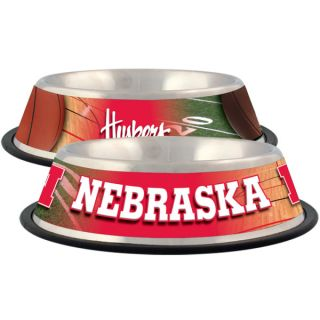 Nebraska Cornhuskers Stainless Steel Pet Bowl   Team Shop   Dog