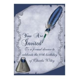 Elegant Quill and Inkwell Personalized Announcement