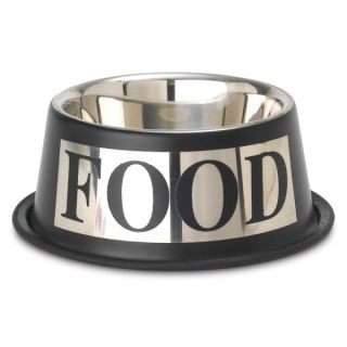 PetRageous Designs Antigua Pet Food Bowl   Stainless Steel   Bowls & Feeding Accessories