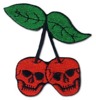 KILLER KIRSCHEN Skull Cherry Tattoo Rockabilly Punk Oldskull Aufnaeher
