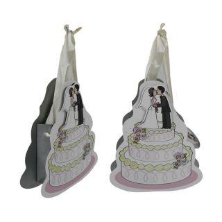 Hochzeitspaar auf Torte, 21 cm, Hochzeit, Verpackung