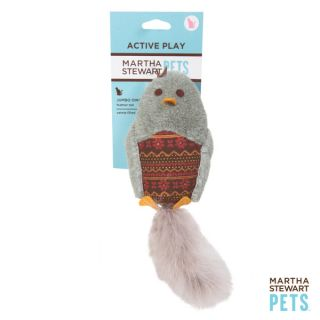 Martha Stewart Plush Owl Fair Isle Cat Toy   Jumbo Owl