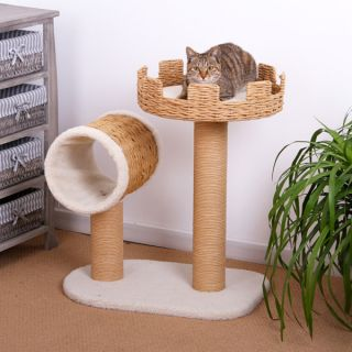 PetPals Eco Friendly Castle Cat Tower   24x16x27