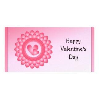 Corazones lindos del rosa y blancos tarjetas fotograficas
