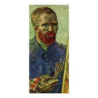 Self Portrait Before Easel By Vincent Van Gogh Rack Card Design