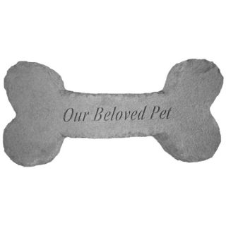 Our Beloved Pet Dog Bone Memorial Stone   Pet Memorials   Dog