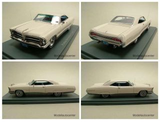 Pontiac Bonneville Coupe 1965 weiß Modellauto 143 Neo
