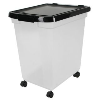"Iris Nesting Airtight Food Storage Container    65 Qt   airtight seals keep out moisture, humidity & pests, ""positive snap"" latches, 4 free wheeling casters"