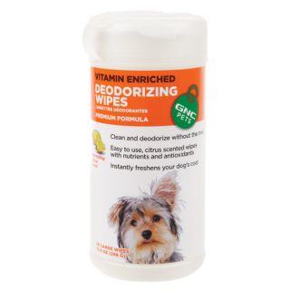GNC PETS® Vitamin Enriched Deodorizing Wipes   Sale   Dog