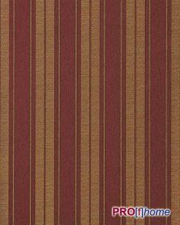Barock Streifen Tapete Wein Rot Gold Platin 709 36 EDEM