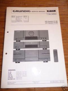 Service Manual Grundig R 120,R 220 HiFi System,ORIGINAL