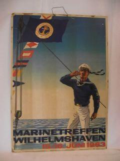 Seltenes Original Plakat des Deutschen Marinebundes von 1963
