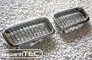 VOLL CHROM NIEREN FRONT GRILL FRONTGRILL KÜHLERGRILL SET BMW E38 7er