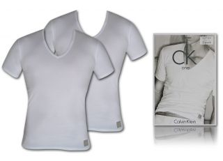 Calvin Klein Unterhemd ck one Shirt V Neck M/5 weiss
