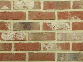 41,38 Euro/m²) Retro Klinker, Verblender wie Feldbrandsteine, rot
