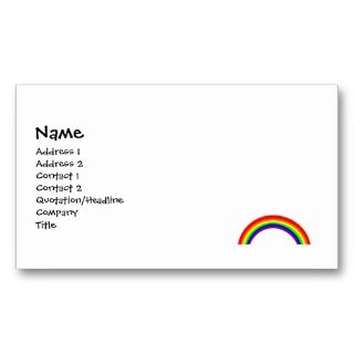 Bright Rainbow Business Cards