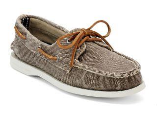 Sperry Top Sider Schuhe A/O saltwash grey/beige greige Canvas 36 bis