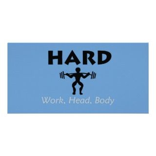 TOP Hard Work Head Body Picture Card