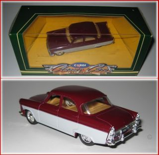 FORD ZODIAC MK2 1950s SCALE 1:43 DIECAST MODEL CAR   CORGI CLASSIC