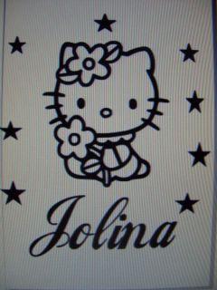 Hello Kitty Wandtattoo Wandsticker Autoaufkleber Name