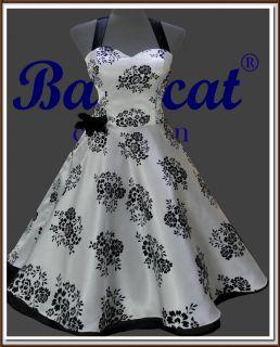 Tanzkleid Vintage Mode Petticoat Rockabilly Partykleid Gr. 44