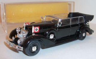 1937 HITLERS Mercedes Car Model by Rio MINT 143 Plastic Box