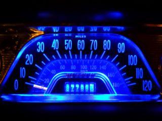 Toyota Landcruiser FJ40 FJ45 BJ40 BJ42 HJ45 HJ47 Blue LED Dash Cluster