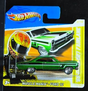 4370: YELLOW TEAM HOT WHEELS 2012 SUPER TREASURE HUNT 66 FORD FAIRLANE